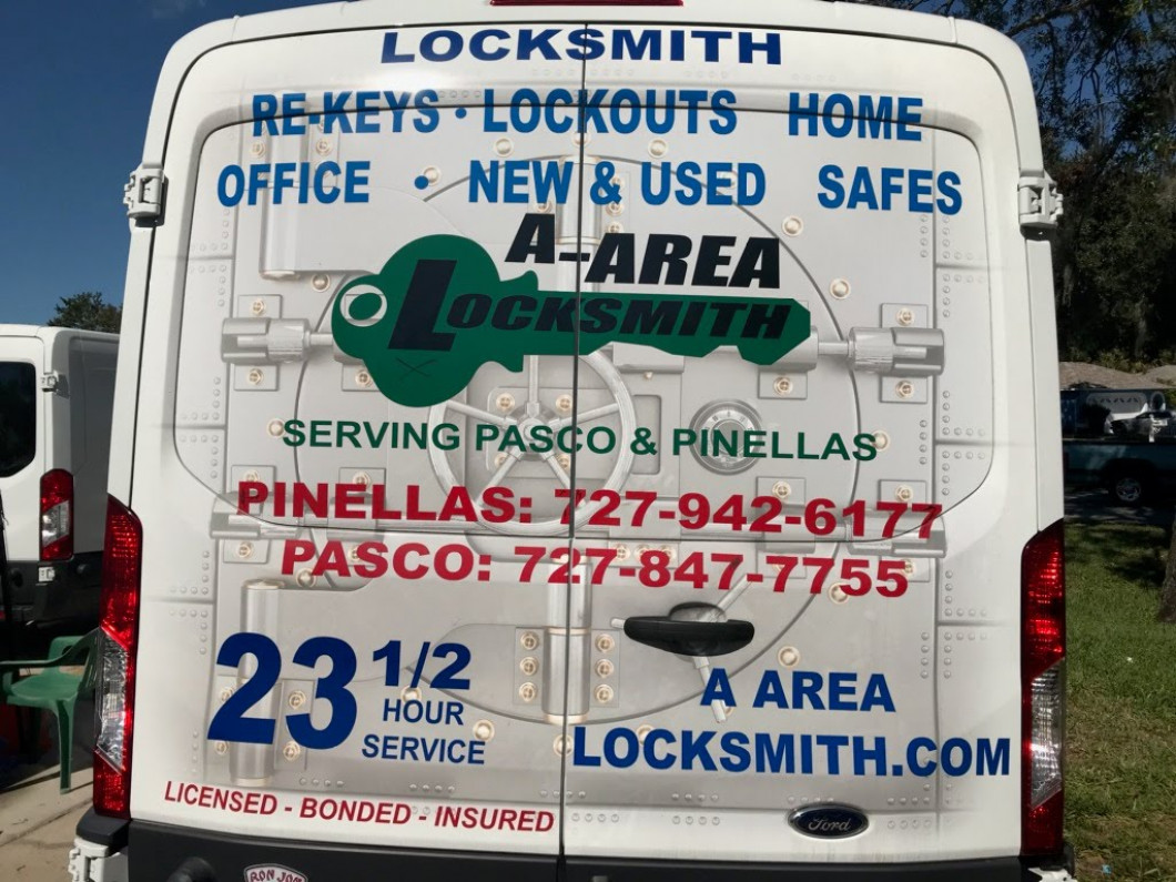 A-Area Locksmith offers Car/Auto Locksmith, Home/Residential Locksmith, and Commerical Business Locksmith Services in New Port Richey & Palm Harbor, FL - Open 23 and 1/2 Hours a Day